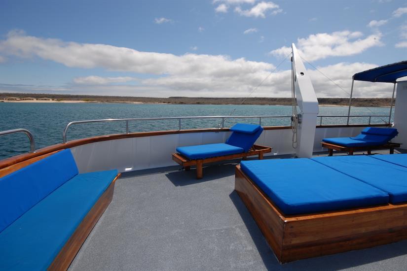 Comfortable sun deck - Beluga Galapagos