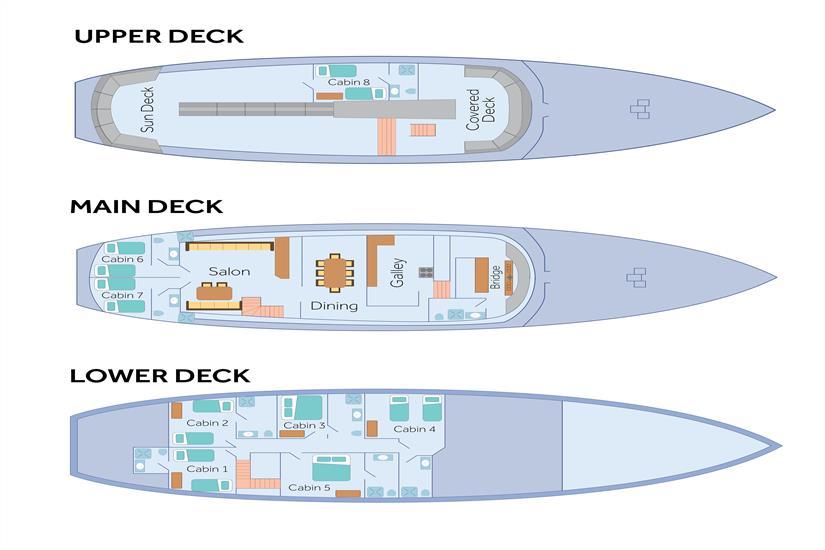 Beluga Galapagos Deck Plan
