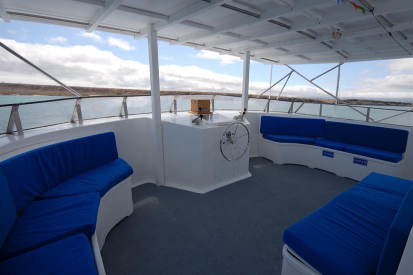 Top deck lounge area - Beluga Galapagos