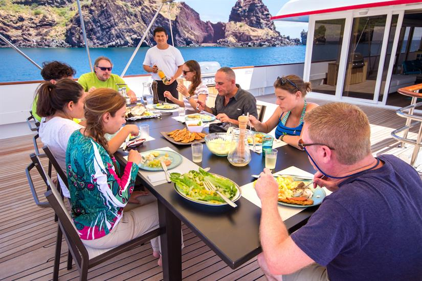 Delicious cuisine aboard MY Passion Galapagos