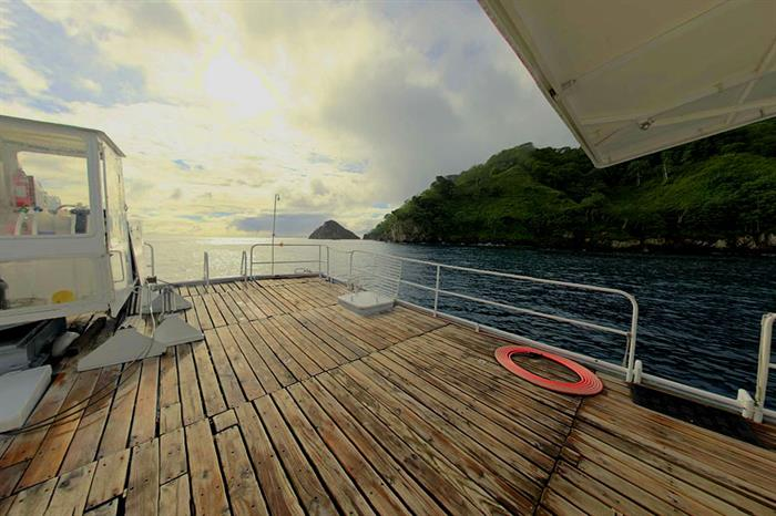 Spacious dive deck- Nautilus Under Sea Mexico
