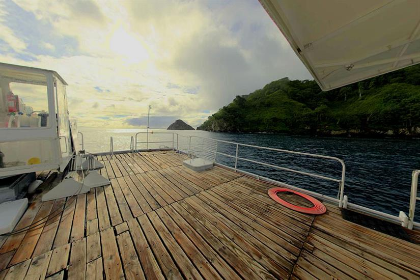 Spacious dive deck- Nautilus Under Sea Mexico