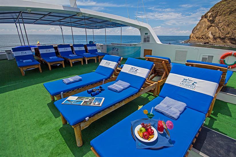 Sun deck - Archipell I Catamaran Galapagos