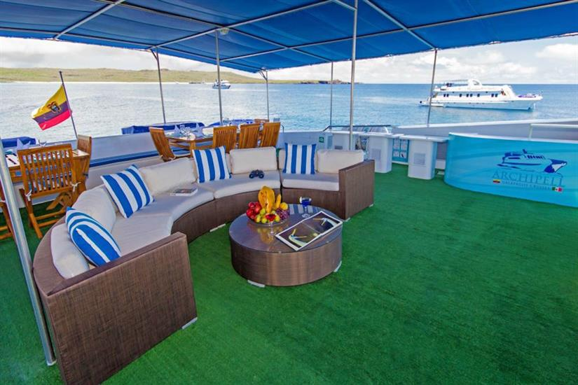 Top deck lounge - Archipell II Galapagos