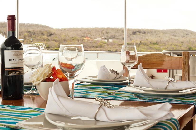 Dining with views - Galapagos Seaman Journey