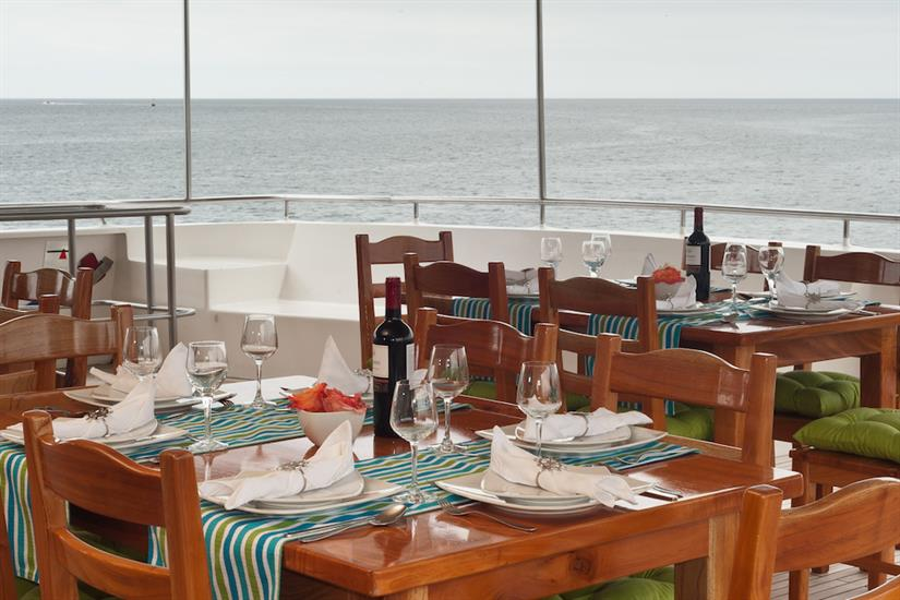 Al Fresco Dining Area - Galapagos Seaman Journey