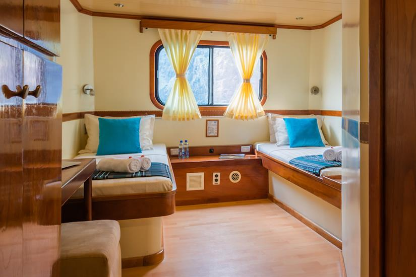 Twin Cabins with Ocean Views - Galapagos Seaman Journey