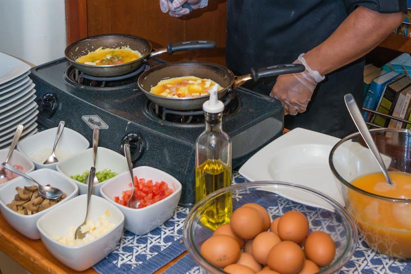 Breakfast station - Galapagos Seaman Journey