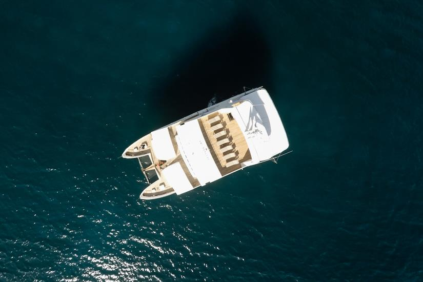 Arial view of Galapagos Seaman Journey