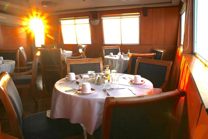 Indoor Dining Area - Millennium Yacht Galapagos