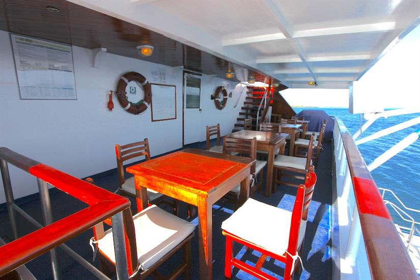 Outdoor Dining Area - Millennium Yacht Galapagos