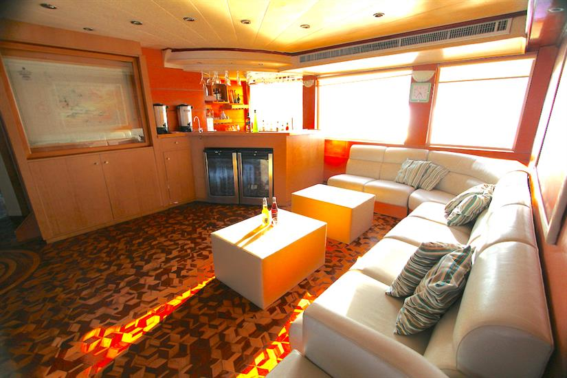 Indoor Lounge Area - Millennium Yacht Galapagos