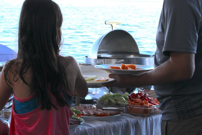 Buffet Dining - Millennium Yacht Galapagos