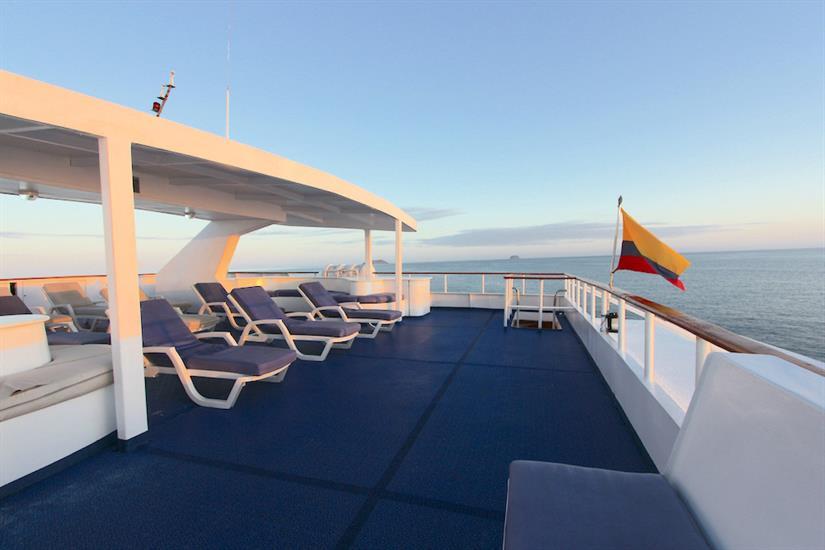 Spacious Sun Deck - Millennium Yacht Galapagos
