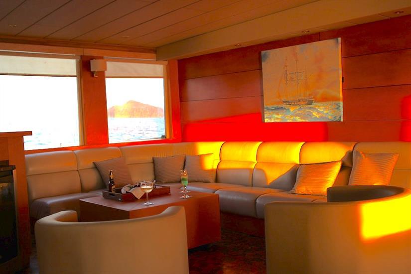 Indoor Lounge - Millennium Yacht Galapagos