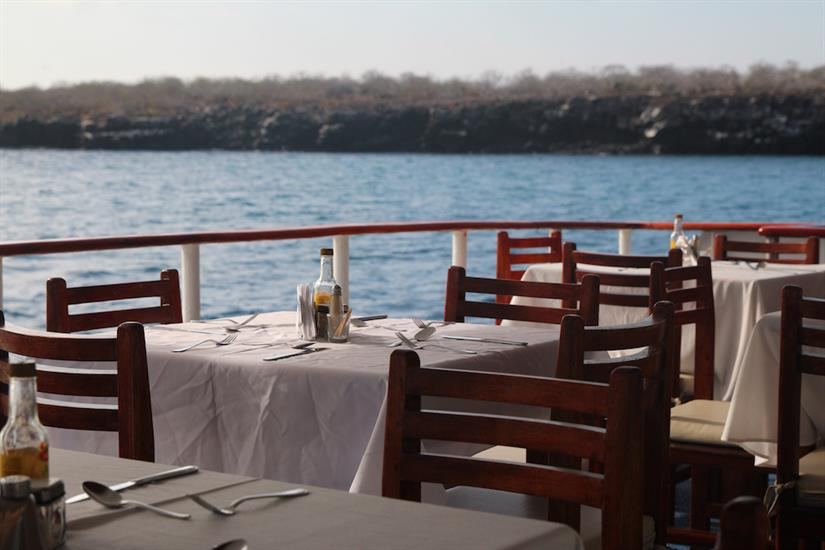 Al Fresco Dining Area - Millennium Yacht Galapagos