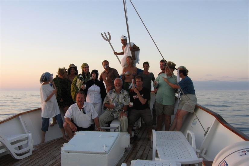 Make fast friends aboard the Samba Galapagos