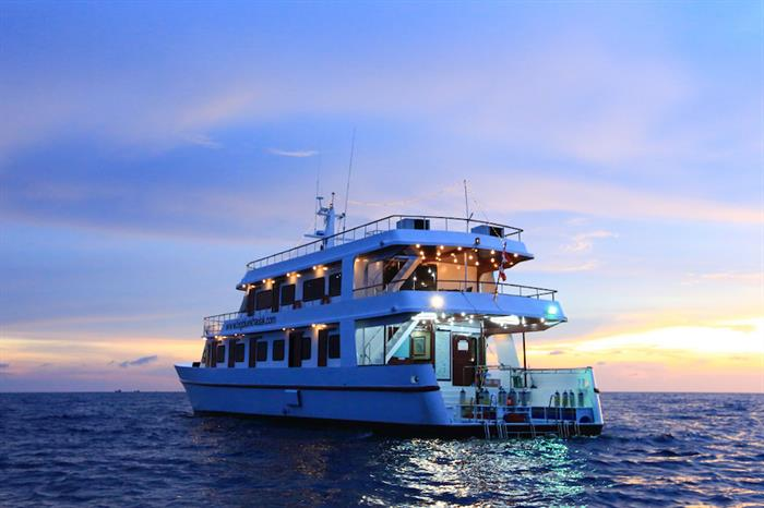 MV Hallelujah at Sunset