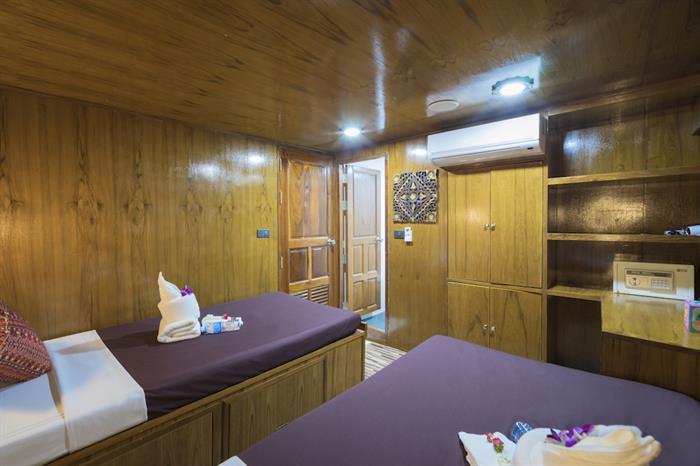 Standard Twin Cabin - MV Sawasdee Fasai Thailand