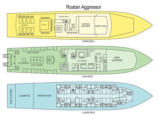 Roatan Aggressor Deck Plan floorplan