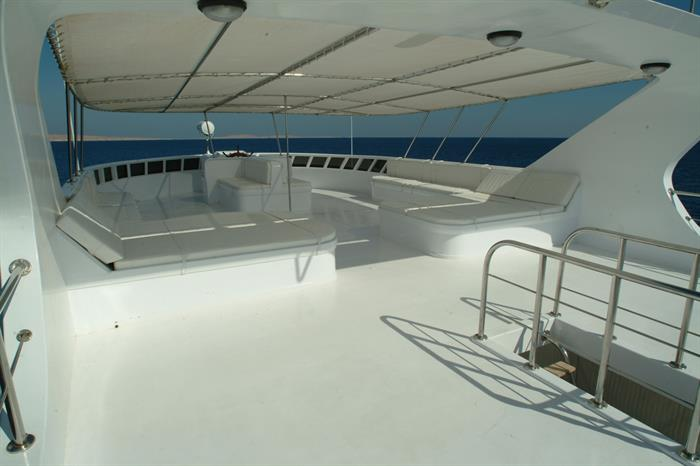 Sun deck - Blue Seas Liveaboard