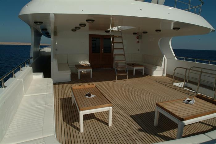Plenty of space to relax onboard Blue Seas Liveaboard