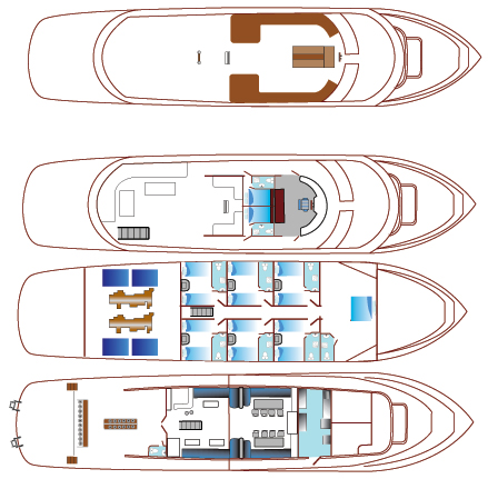 MY Blue Seas Deck Plan Grundriss