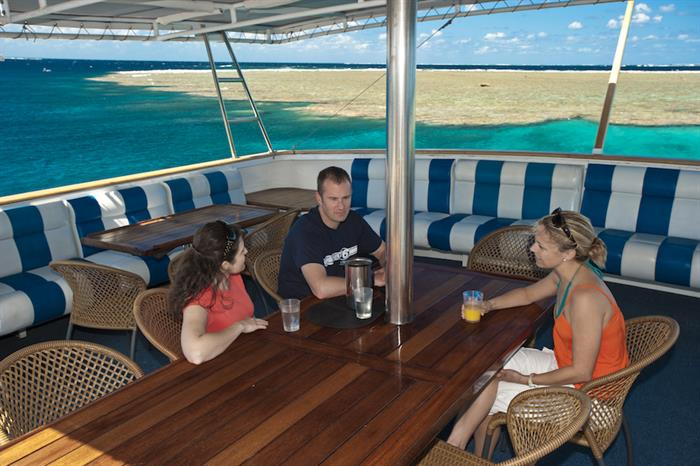 Outdoor Lounge - Spirit of Freedom Live Aboard
