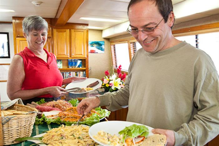 Meals onboard Belize Aggressor III Liveaboard
