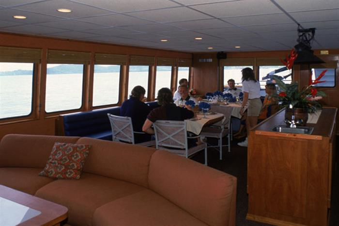 Belize Aggressor IV Liveaboard Dining Area