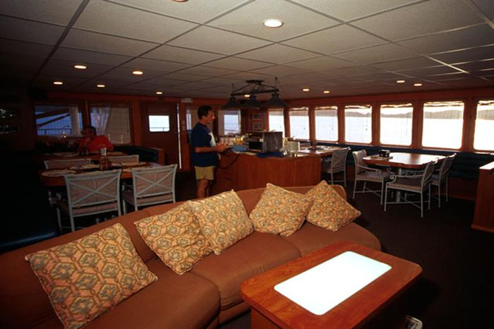 Belize Aggressor IV Liveaboard Indoor Saloon