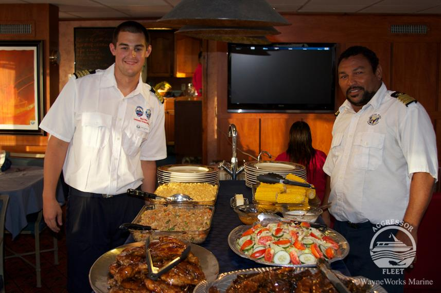 Selection of Fresh Cuisine - Belize Aggressor IV
