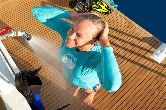 Cayman Aggressor IV Liveaboard Outdoor Shower