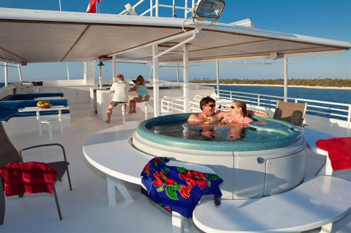 Hot Tub on Cayman Aggressor IV Liveaboard