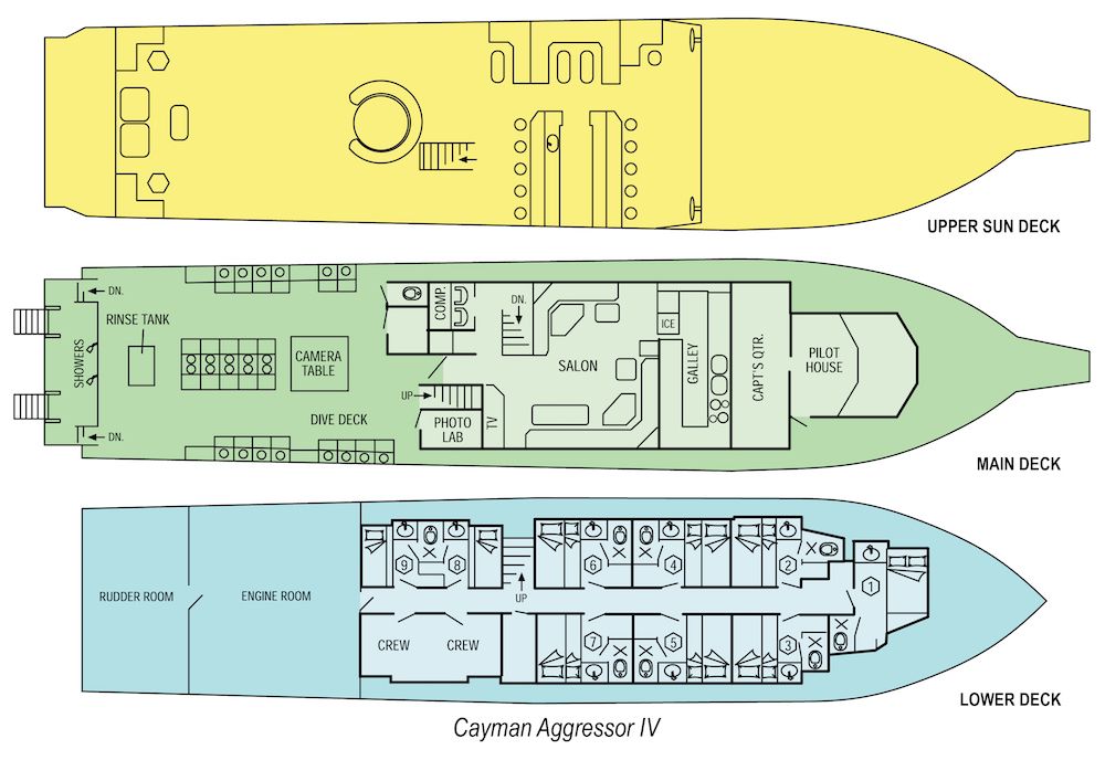 Cayman Aggressor IV Deck Plan floorplan