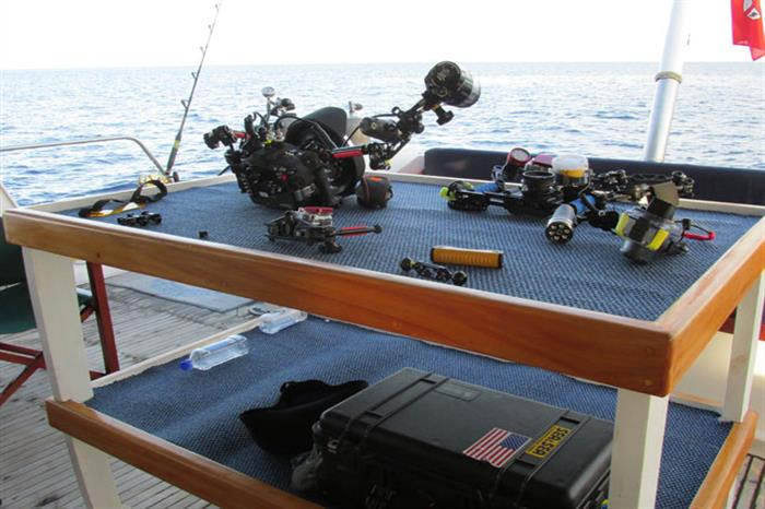 Fiji Aggressor Liveaboard Camera Table