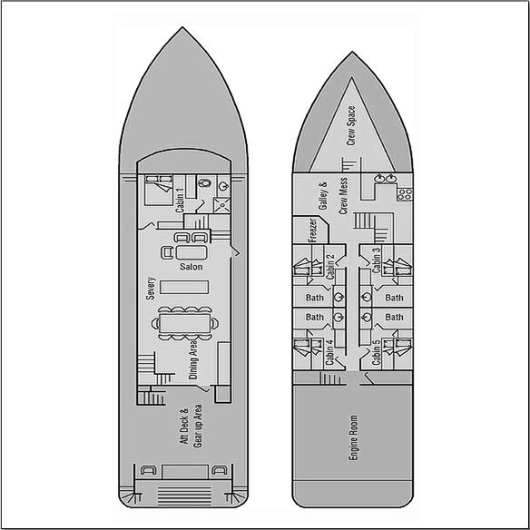 Fiji Aggressor Liveaboard Deck Plan floorplan