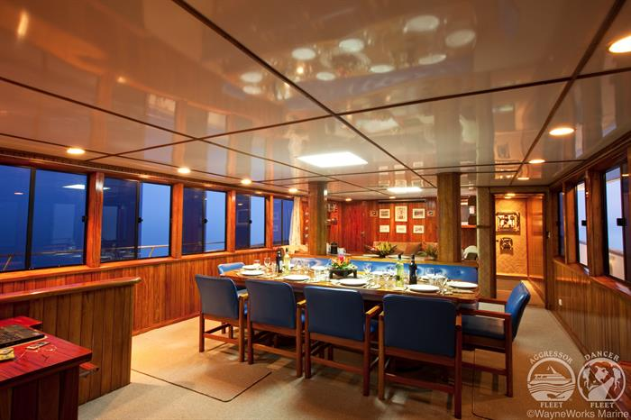 Fiji Aggressor Liveaboard Indoor Dining
