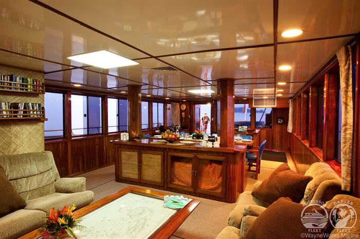 Fiji Aggressor Liveaboard Indoor Salon