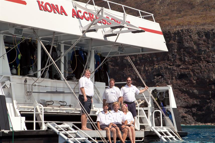 Kona Aggressor II with the Crew