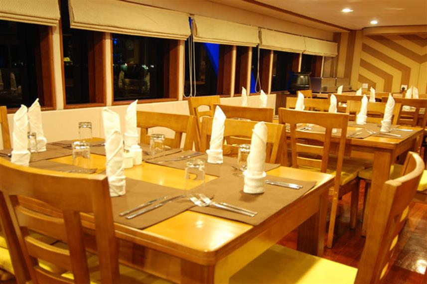 Indoor Dining - Leo Liveaboard Maldives