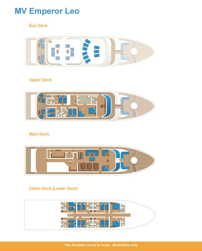 Emperor Leo Deck Plan floorplan