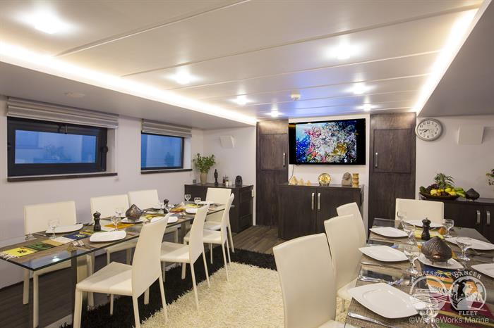 Red Sea Aggressor Liveaboard Indoor Dining Area