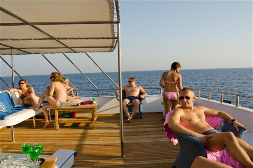 Red Sea Aggressor Liveaboard Sundeck