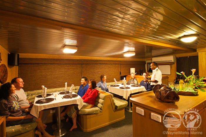 Thailand Aggressor Liveaboard Dining Area