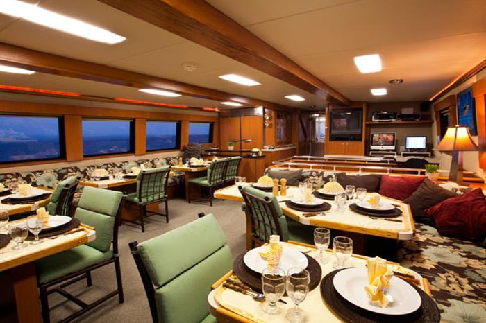 Turks and Caicos Aggressor Liveaboard Indoor Dining