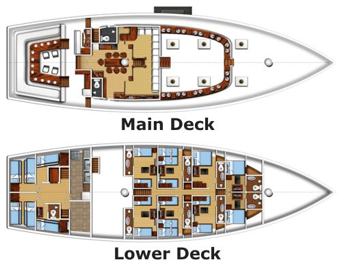 Indo Siren Deck Plan floorplan