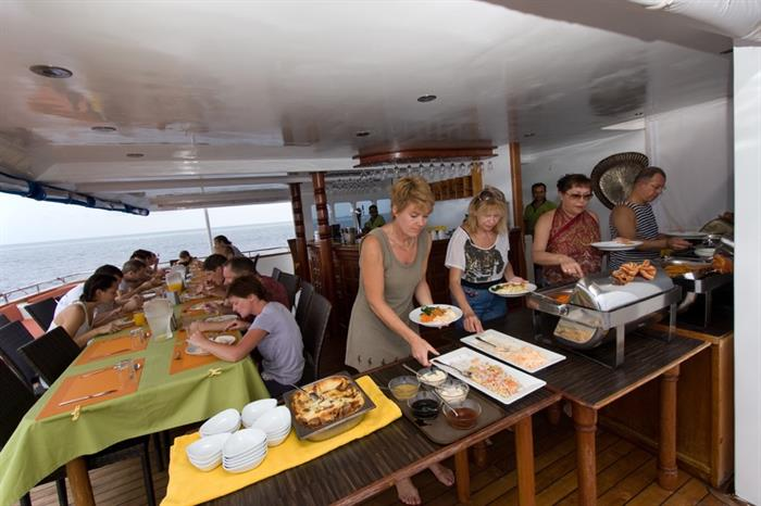 Cuisine aboard the MV Carpe Vita