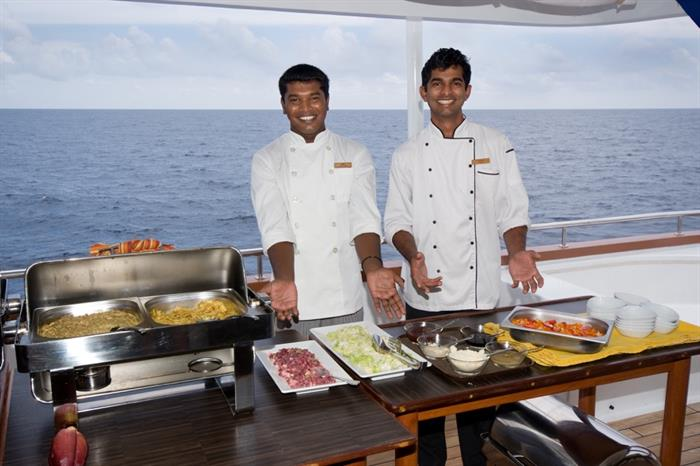 MV Carpe Vita buffet meals
