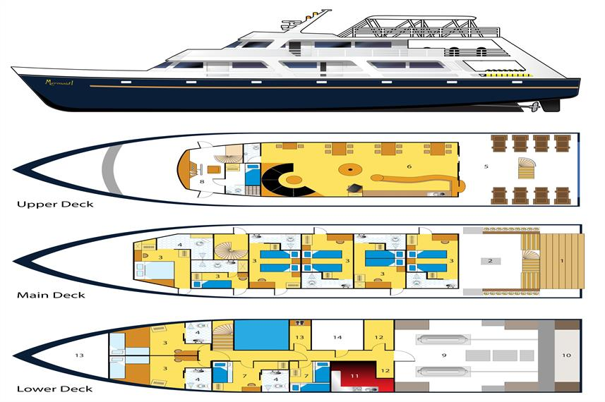 Mermaid I Liveaboard floorplan